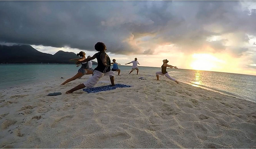 Camiguin yoga on White Island