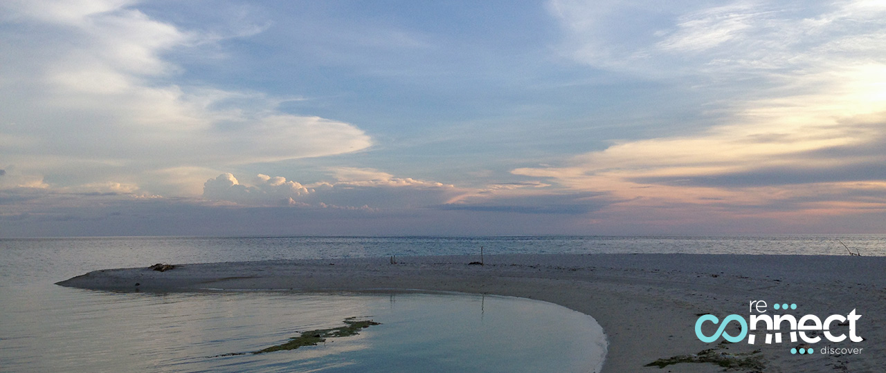 Sunset over White Island, Camiguin, Philippines